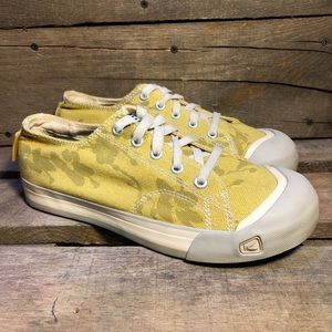 Keen Low Top Floral Yellow Canvas Shoes